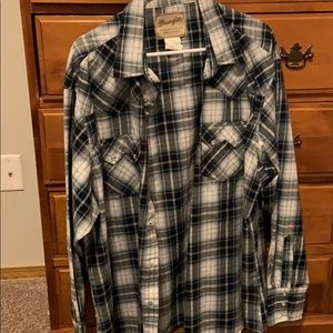 Long sleeved button down men's shirt